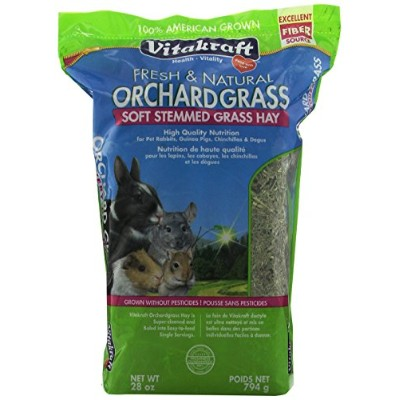 Vitakraft Orchard Grass Hay Soft Stemmed Healthy Daily Diet Nutrition Food 28oz