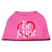 Mirage Pet Products 51-53 SMBPK Be Mine Screen Print Shirt Bright Pink Sm - 10