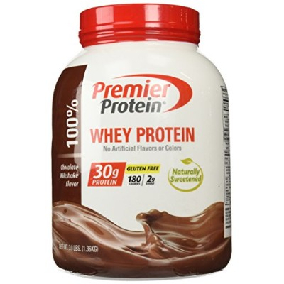Premier Protein  100 % Whey Protein, Chocolate, プリミーア・プロテイン 100 %ホエイ チョコレート味 1.36Kg (並行輸入)