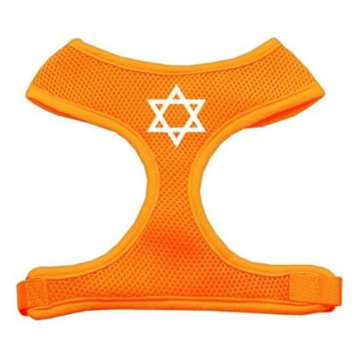 Mirage Pet Products 70-26 SMOR Star of David Screen Print Soft Mesh Harness Orange Small