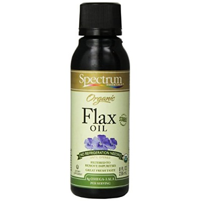 【ハワイ発送】Spectrum Essentials Shelf Stable Organic Flax Oil - 8 Oz フラックスオイル