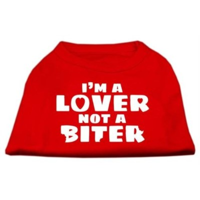Mirage Pet Products 51-42 XSRD Im a Lover not a Biter Screen Printed Dog Shirt Red XS - 8