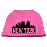 Mirage Pet Products 51-81 XSBPK New York Skyline Screen Print Shirt Bright Pink XS - 8