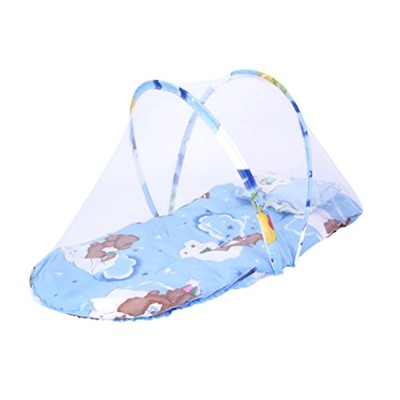 Zhhlinyuan 良質 Baby Breathable Durable Cute Folding Mosquito Net with Pillow ベビー蚊帳
