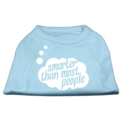 Mirage Pet Products 51-50 XXLBBL Smarter then Most People Screen Printed Dog Shirt Baby Blue XXL -...