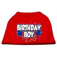 Mirage Pet Products 51-05 SMRD Birthday Boy Screen Print Shirts Red Sm - 10