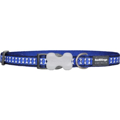 Red Dingo DC-RB-DB-SM Dog Collar Reflective Dark Blue, Small