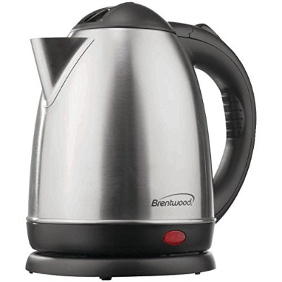【並行輸入】Brentwood KT-1780 Electric Cordless Tea Kettle, 1.5-Liter, Brushed Stainless Steel 電気ケトル