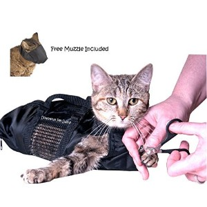 Cat Grooming Bag - MEDIUM, cat restraint bag + FREE Cat Muzzle by, Downtown Pet Supply by Downtown Pet Supply