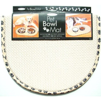 The OriginalTM Pet Bowl Mat - 12.5 in. x 21.5 in. (Taupe) by The Originalテ「ツツ「