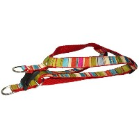Sassy Dog Wear 23-35-Inch Red/Multi Stripe Dog Harness, Large by Sassy Dog Wear