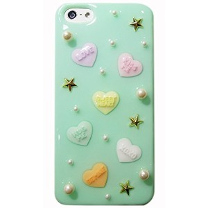 Candyheart for iPhone5s/5 〈SE対応〉 (ミントスタッズ)