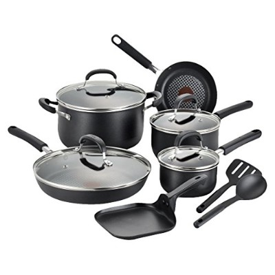 T-fal C085SC OptiCook Thermo-Spot Titanium Nonstick Dishwasher Safe Oven Safe Fry Pan Cookware Set,...