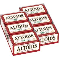 Altoids Curiously Strong Mints, Peppermint, 1.76-Ounce Tins (Pack of 12) by Altoids