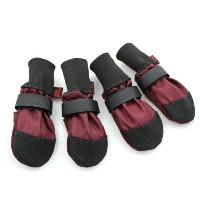 Muttluks Woof Walkers 2.25-Inch to 2.75-Inch Dog Boots, X-Small, Burgundy, Set of 4 by Muttluks