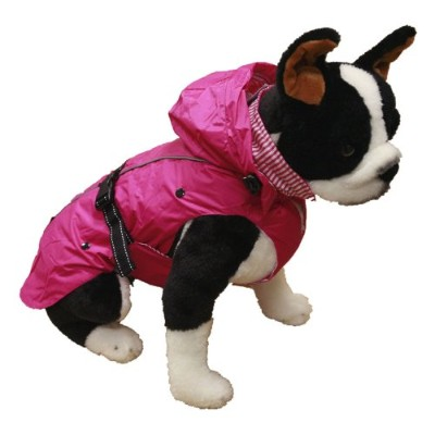One for Pets All Season Dog Coat with Removable Fleece Lining, 20-Inch, Pink by One for Pets