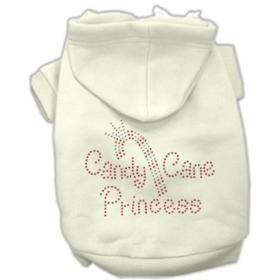 Mirage Pet Products 54-25-04 MDCR Candy Cane Princess Hoodies Cream M - 12