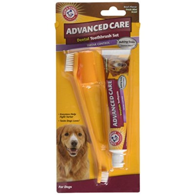 Arm & Hammer犬歯科Care Tartar Control Kit for Dogs | Contains歯磨き粉、歯ブラシ& Fingerbrush | reduces Plaque &...