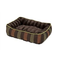 Petmate Fashion Lounger Cat And Dog Bed 24 X 20 Inch Brown-Stripe 80140