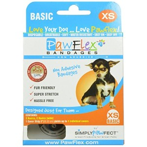 PawFlex RB003 Basic Bandage for Pets, Extra Small