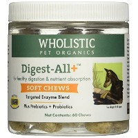 Wholistic Digest All PlusTM Soft Chews, 60 Count by Wholistic Pet Organics