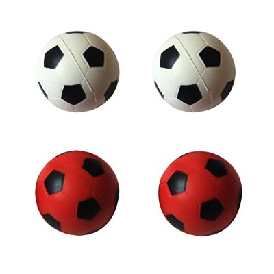 Iconic Pet 15799 Bouncing Sponge Red And White Football For Small Cats And Kittens - 4 Pack