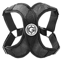 Gooby Choke Free Perfect Fit X Harness for Small Dogs, Medium, Black by Gooby