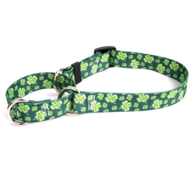 Four Leaf Clover Martingale Control Dog Collar - Size Large 26 Long - Made In The USA by Yellow Dog...