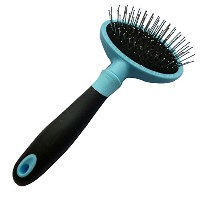 Iconic Pet 15816 Pet Grooming Supplies Hard Pin Brush For Large Or Small Dogs-Pets - Blue