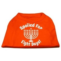 Mirage Pet Products 51-129 XSOR Spoiled for 8 Days Screenprint Dog Shirt Orange XS - 8
