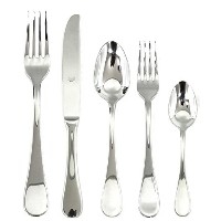 Mepra Brescia 5 Piece Place Setting, Stainless Steel by MEPRA