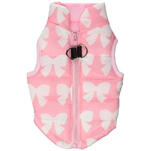 New Various Pet Cat Dog Soft Padded Vest Harness Small dog clothes Pink Bow S by smalllee_lucky...
