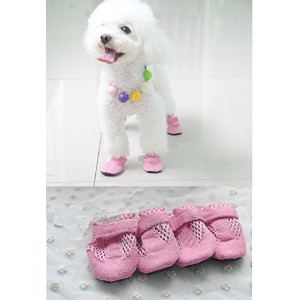 Namsan Dog Hole Shoes Pet Puppy Fashion Boots (Extra Large & Pink) by Namsan