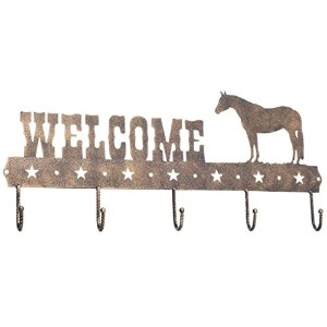 5 Hook Tack Rack Bronze Quarter Horse by Gift Corral