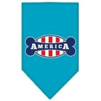 Mirage Pet Products 66-128 LGTQ Bonely in America Screen Print Bandana Turquoise Large