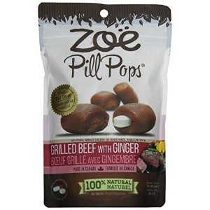 Zoe Pill Pops 3.5oz(100g) Grilled Beef with Ginger 犬用投薬補助トリート ピルポップス