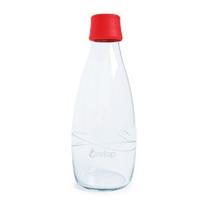 Retap Borosilicate Glass Water Bottle, 27-Ounce  水筒 750ml レッド