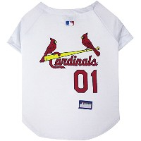 St. Louis Cardinals Baseball Dog Jersey Large