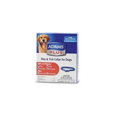 Adams Plus Flea & Tick Collar for Large Dogs Puppies Kills and Repels 7 Months