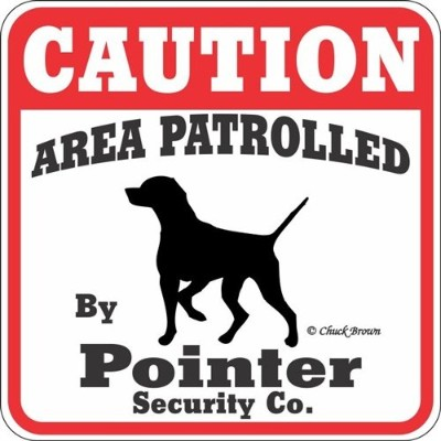CAUTION AREA PATROLLED By Pointer Security Co. サインボード:ポインター [並行輸入品]