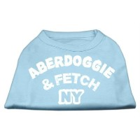 Mirage Pet Products 10-Inch Aberdoggie NY Screenprint Shirts, Small, Baby Blue by Mirage Pet...
