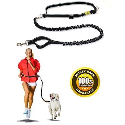 #1 Best Quality Hands Free Dog Leash By Hertzko - Enjoy the Extra Freedom While Walking, Running or...