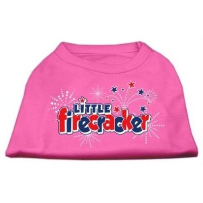 Mirage Pet Products 10-Inch Little Firecracker Screen Print Shirts for Pets, Small, Bright Pink by...