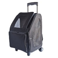 Petote Rio Bag On Wheels Pet Carrier, Black by Petote [並行輸入品]