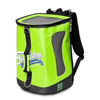 Touchdog Ultimate-Travel Airline Approved Triple Carrying Water Resistant Pet Carrier, Yellow Green...