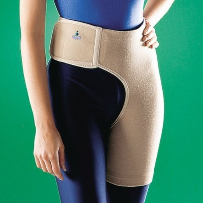 Oppo Medical Right or Left Hip Elastic Stabilizer (Unisex; Natural), Large by Oppo Medical