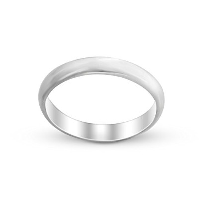 925 Sterling Silver Wedding Ring Band (3mm) (12)