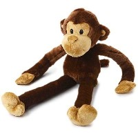 Multipet Swingin 22-Inch Large Plush Dog Toy with Extra Long Arms and Legs with Squeakers [並行輸入品]