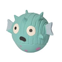 HuggleHounds Extremely Durable and Squeaky Ruff-Tex Mr. Prickles The Blowfish Pet Squeak Toy [並行輸入品]