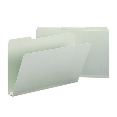 Recycled Folders, Two Inch Expansion, 1/3 Top Tab, Legal, Gray Green, 25/Box (並行輸入品)